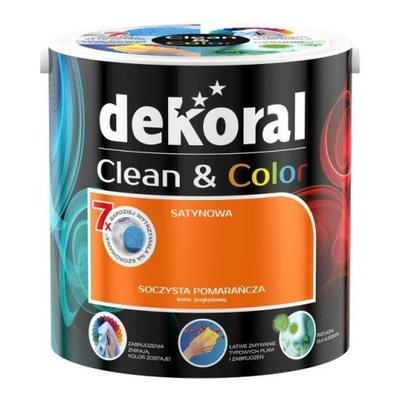 Dekoral Clean & Color 2,5l SOCZYSTA POMARAŃCZA