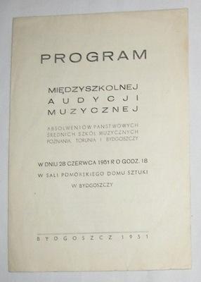 1951 МУЗЫКАЛЬНЫЙ КОНЦЕРТ   ТОРУНЬ