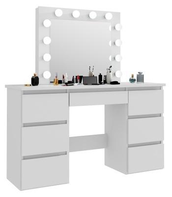 Туалетный столик белая ? зеркалом косметика Бета 4 12LED