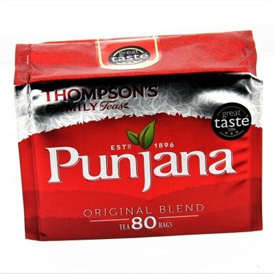 чай THOMPSON'S PUNJANA 80 шт 250г Ирландия