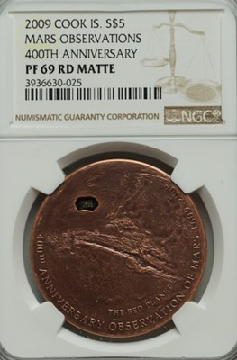 5 $ $ - Метеорит Марс - 2009 - NGC PF69 RD