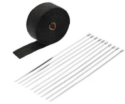 Черная лента термическая повязка на выдох, 3мм, 10м,