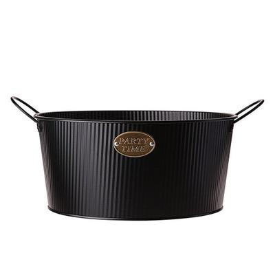 Корзина металлический Декоративный Черный 30 см