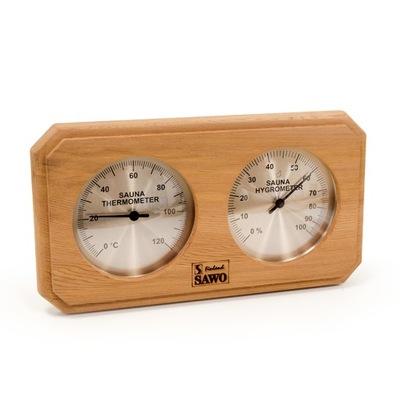 Сауна термометр -гигрометр для сауны Sawo 221 кедр
