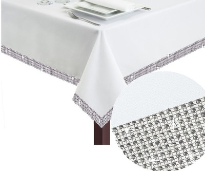СКАТЕРТЬ пятноотталкивающий 140х200 стразы Diamond ЦВЕТА