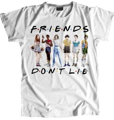 STRANGER THINGS Friends don't lie футболки женская