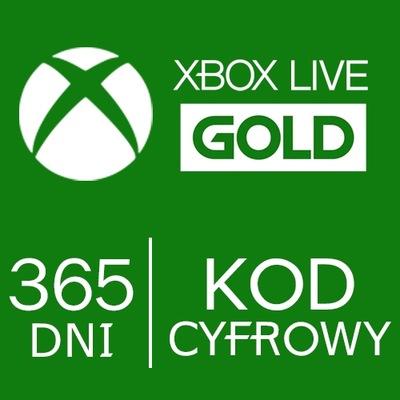 Xbox Live Gold 12 MIESIĘCY 1ROK PL One Series S X