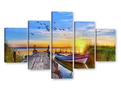 мостик Картины на холсте 125x85 Изображения частичное