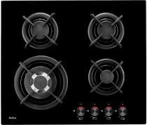 плита газовая Amica PG6411SR черные стекло /чугунов/???