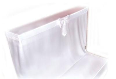 Pokrowiec POKROWCE na klęcznik do kościoła BIALY