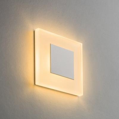 Malé Pevné sklenené Schodisko LED 230V Biele S