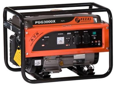 Приводимый в действие генераторная установка PEZAL PGG3000X 3 ,0kW/230