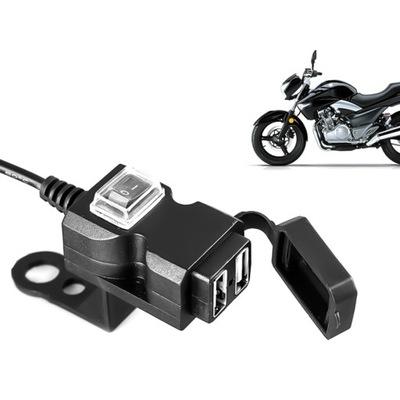 ЗАРЯДНОЕ устройство МОТОЦИКЛА МОТОЦИКЛ QUAD 2x USB 1A + 2,1 A, фото