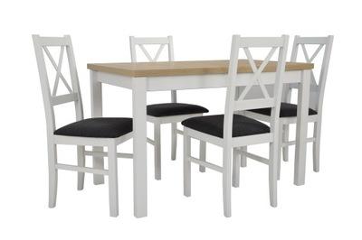 стол 70x120x160 Белый столешницу сонома 4 стулья Дерево