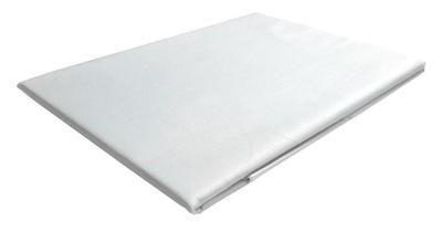 240x260 posteľ list bavlna satén biela