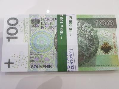 100zł banknoty do zabawy i nauki plik 100szt