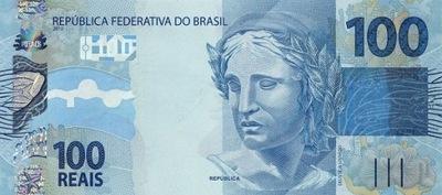 БРАЗИЛИЯ 100 Реалов 2010 P-257e подпись 47 UNC