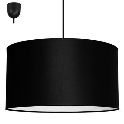 prívesok Lampy, stropné lampy, veľké tienidlo čierne LED 35 cm