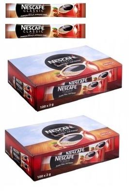 кофе растворимая Nescafe CLASSIC 100 ПАКЕТИКОВ x2