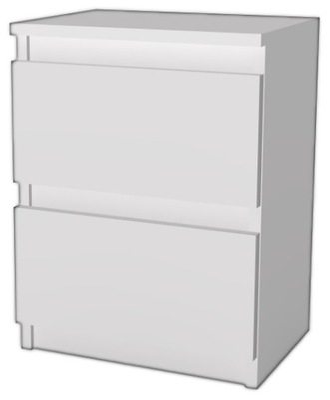 тумба 30 СМ 2 ящик белая