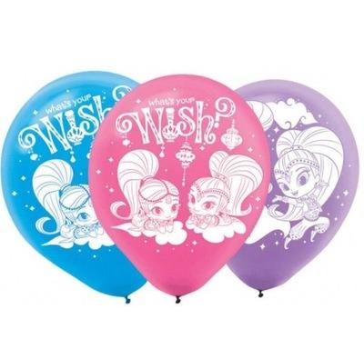 Воздушные шары на день Рождения Латексные Shimmer и Shine 6 штук .