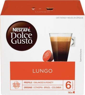 капсулы Nescafe Dolce Gusto Lungo кофе 16 штук
