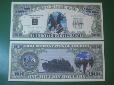 ??? Банкноту One Million Dollars US ARMY ! UNC