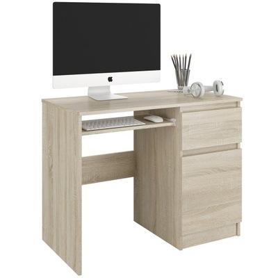Meble Biurko komputerowe stolik 90cm sonoma N33