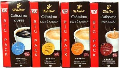мега комплект кофе Tchibo CAFISSIMO Caffe CREMA 120