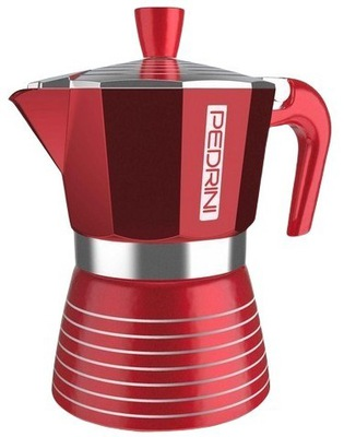 Кофеварка PEDRINI INFINITY RED 6TZ-подарок bialetti