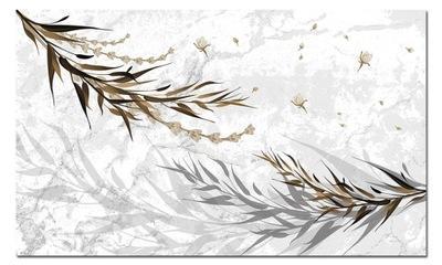 Изображение цветы 7 - 120x70cm лист ??? серый интерьер