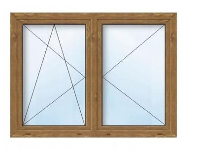 Okno PCV 6-kom Złoty dąb RU+R 1765x1435 180x150