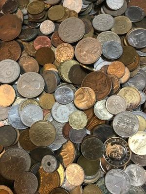 Монеты иностранные 1 кг - микс, новинка, комплект