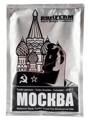 дрожжи для дистилляции puriFerm Moskva на самогон 21 %