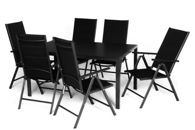 комплект дачной мебели из алюминия 6 местный