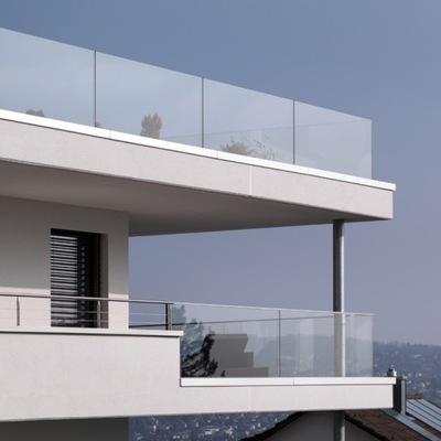 Стеклянная балюстрада лестницы # Перила стеклянные