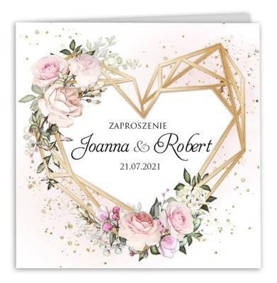 Zaproszenia ślubne Rustykalne Boho Ariana2 SERCE H