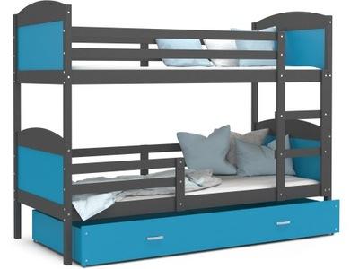 Poschodová posteľ pre deti MATÚŠ FARBA 160x80