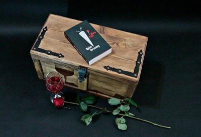 Нарядная коробка в стиле РЕТРО с окладом, сундук