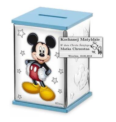 STRIEBRO PRASIATKO DARČEK Mickey MOUSE + Rytca