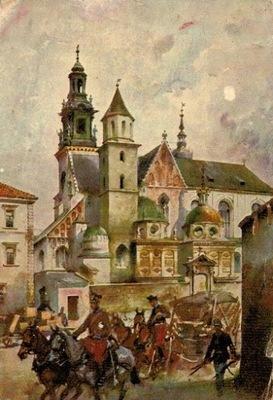 Открытка Армия austryjackie покидает Вавель