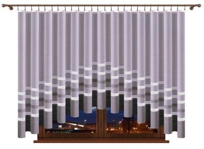 Шторный жаккард Ивона 310 x 120 см лук Серые ремни