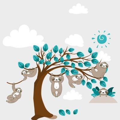 наклейки для детей на стену instagram деревья 120