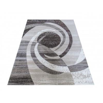 Modny dywan 80x150 mix wzorów DRZEWO miękki szary