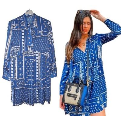 sukienka patchworkowa allegro zara