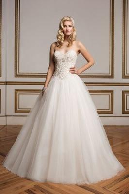 dfa6b00f65 r38 Adria Rosa biała princeska plecy suknia ślubna 7688507132 ...