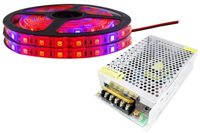 KIT 300 LED pásy svetla IP65 RAST rast rastlín 7m