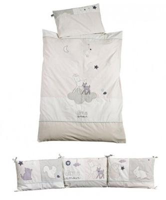 Sauthon Perinu + posteľná bielizeň v detskej postieľky, Noisette