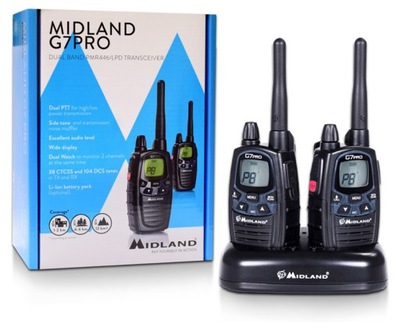 Radiotelefon G7 PRO Midland 2 szt krótkofalówki