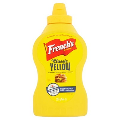 Френч'S Yellow Американская Горчицы 397g ВЕЛИКОБРИТАНИИ